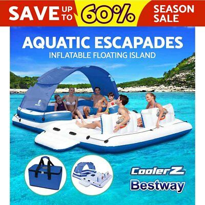 Bestway Raft  Inflatable Floats Pool Floating Island 6-person Tropical Breeze