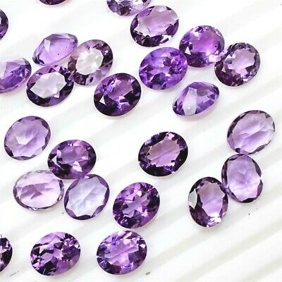 Lot of 9x7mm Oval Facet Natural African Amethyst Loose Calibrated Gemstone