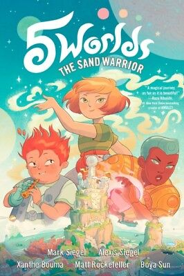 5 WORLDS BOOK 1 THE SAND WARRIOR, Siegel, Mark, Siegel, Alexis, 9...