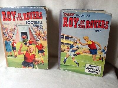 Roy of the Rovers Annuals 1957 and 1958