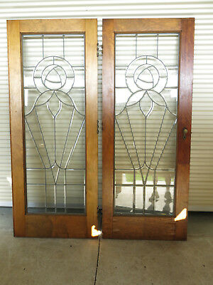 1920's interior doors beveled glass from Detroit Michigan Vintage Architecture