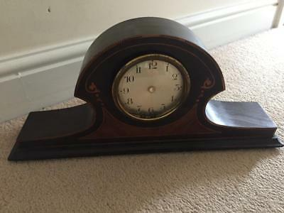 ANTIQUE INLAID MANTLE CLOCK BODY for REPAIR / RESTORATION