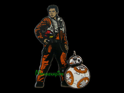 DISNEY Star Wars / The Force Awakens DROID BB-8 with POE DAMERON 3D Pin