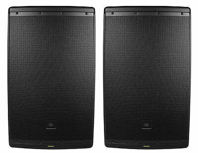 "(2) JBL EON615 15"" 2000 Watt Powered DJ PA Speakers w/ Bluetooth App Control"