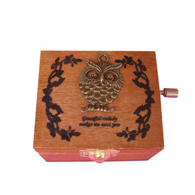 Various styles Engraved Wooden Music Box interesting Kid Toys Xmas Gifts