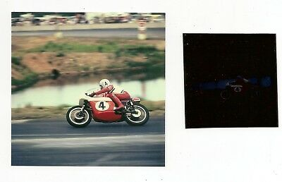 u: Photograph & Negative Dick Mann On BSA Motorbike Motorcycle Number 4