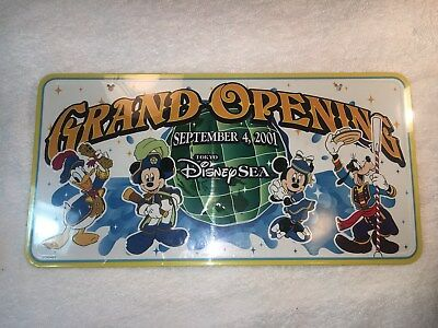 Grand Opening Tokyo Disney Sea Dated Sept 4, 2001 License Plate Sealed