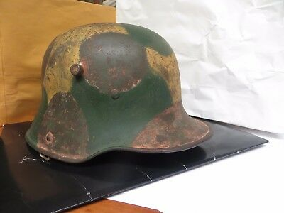German army helmet  camophaged