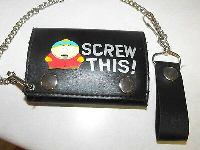 South Park Theme Trifold Wallet with Belt Chain 2005 Comedy Partners