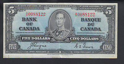 1937 Canada 5 Dollars Bank Note Coyne