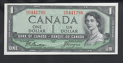 1954 Canada 1 Dollar Bank Note Devil Face Beattie / Coyne