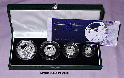 2005 ROYAL MINT SILVER PROOF BRITANNIA FOUR COIN SET - Only 2,360 Issued