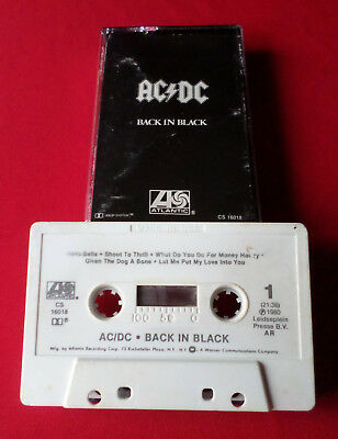 AC/DC - Back In Black - MC Audio Cassette (61018 Made in USA)