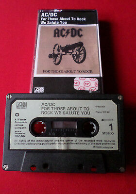 AC/DC - For Those About To Rock - MC Audio Cassette (K 450 851 Made in Germany)