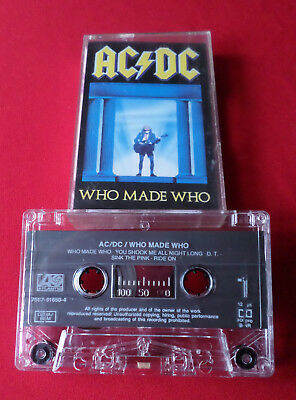 AC/DC - Who Made Who - MC Audio Cassette (7567-81650-4 Made in Germany)
