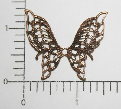 35205 Large Filigree Butterfly Jewelry Finding Copper Oxidized