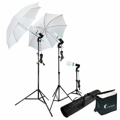 "33"" Umbrella Reflector 86"" Light Photo Stand Photography Continuous Lighting Kit"