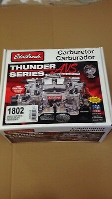Edelbrock 1802 Thunder Series 500 cfm Manual Choke Rat Rod Hot Rod SBC Carb New