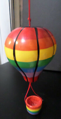 Hanging Hot Air Balloon - Ceramic - Beautiful, Vivid Colors