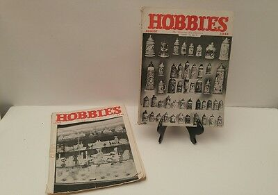 Hobbies the magazine for collectors 2 issues June 1948 and August 1948