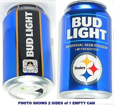 2018 Pittsburgh Steelers Nfl Kickoff Bud Light Beer Can Team Sports Fan Football