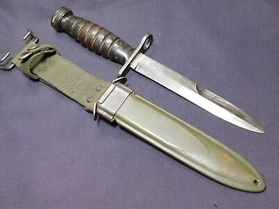 WWII US Bayonet M1 Carbine Imperial Fighting Knife USA in USM8A1 Scbd