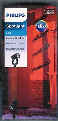 Philips Led Red Spotlight W/ground Stake ~Projects Up To 20 Ft~ In/outdoor ~New