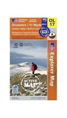 SNOWDON OS Explorer Active Map OL17 Sheet map, folded Book The Cheap Fast Free