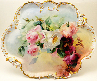 Gorgeous France Hand Painted Limoges D&c Cabinet Plate 16""