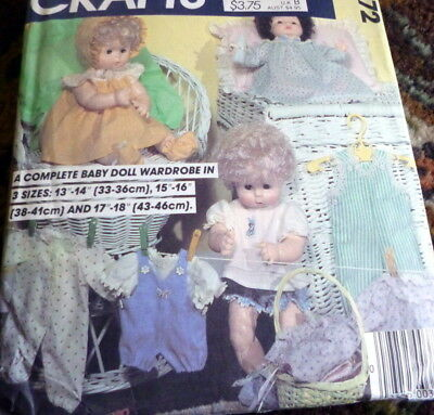"""*GREAT VTG 1960s 13""""-15"""" & 18""""-20"""" DOLL CLOTHING SEWING PATTERN"""