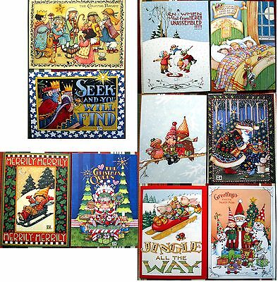 "SALE NEW Mary Engelbreit® Christmas Greetings 20 Cards 10 Designs w/Env 5""x7"""