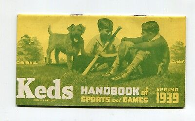 Vintage Brochure 1939 Spring  KEDS Shoes Handbook of Sports & Games