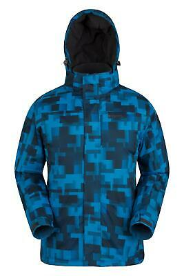 Mountain Warehouse Mens Snowproof Ski Jacket with Insulated and Fleece Lined