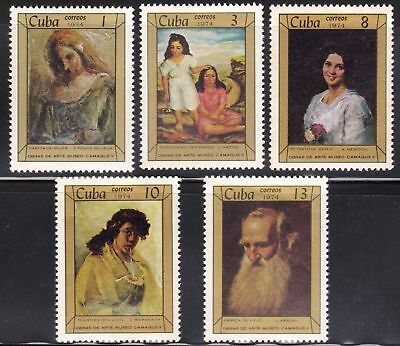 1974 Caribbean  Stamps Paintings Portraits in the Camaguey Museum Full Set MNH