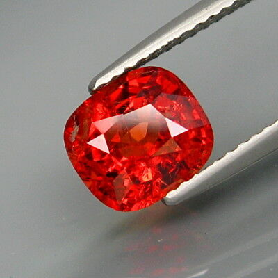 2.06Ct.Very Rare Color! Natural Imperial Red Spinel MaeSai,Thailand Full Spark!