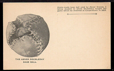 The Abner Doubleday Base Ball ( baseball ), home-made