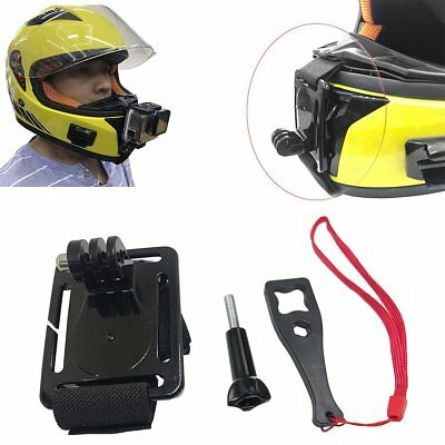 Motorcycle Full Face Helmet Chin Mount for GoPro Hero SJCAM All Action Camera