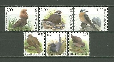 Tiere, Animals, Vögel, Birds - Belgien - 3185-3190 ** MNH 2002