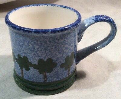Lovely Hand Painted Short Mug With Tree Design By Price Kensington