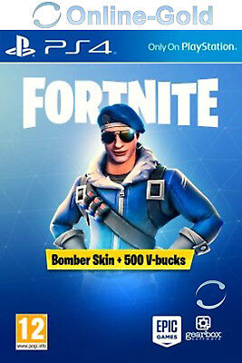 Fortnite Bomber Skin + 500 V Bucks - Playstation 4 Digital Code - PS4 [EU]