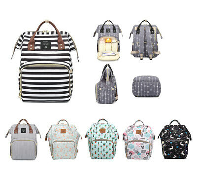 Luxury Multi-functional Baby Diaper Nappy Bag Waterproof Mummy Changing Backpack