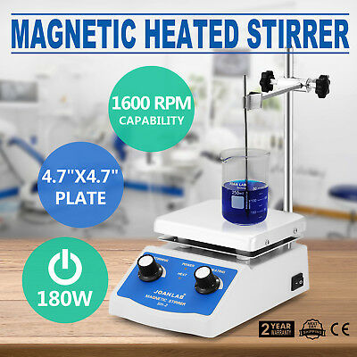 Sh-2 Magnetic Stirrer Hot Plate Dual Controls Plate Mixer Dual Controls Stir Bar