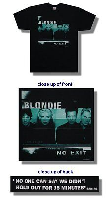 Blondie- NEW No Exit BLACK COTTON T Shirt - XLARGE  FREE SHIPPING TO U.S.!