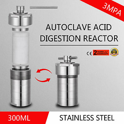 300mL Hydrothermal Synthesis Autoclave Reactor 19LBS Acid Digestion Max 230℃