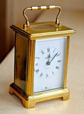 A Vintage French Bayard 8 Day Duverdrey & Bloquel 7 Jewel Brass Carriage Clock