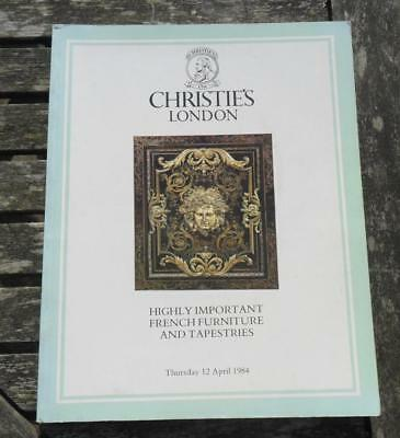 Christie's London HIGHLY IMPORTANT FRENCH FURNITURE + TAPESTRIES 12/4/ 1984