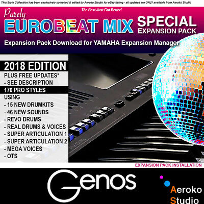 YAMAHA GENOS Eurobeat Mix Styles/Voice Expansion Pack DOWNLOAD for YEM
