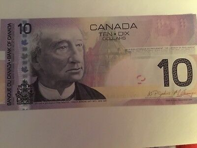 ~2005 ONE CANADIAN BFW  NEW TEN Dollar Bill  10$ UNCIRCULATED, NOT SEQUENTIAL