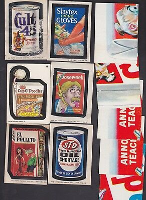 1970's TOPPS WACKY PACKAGES STICKERS - LOT OF 15 (6 stickers & 9 checklists)