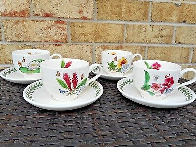 Wonderful Portmeirion Exotic Garden Cup & Saucer Set Of 4  .